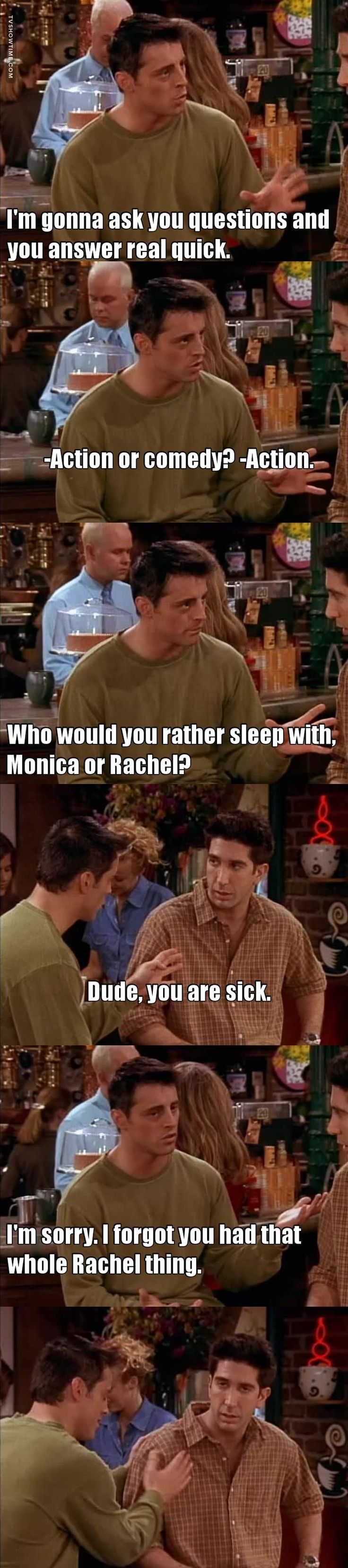 He's not Monica's brother at all