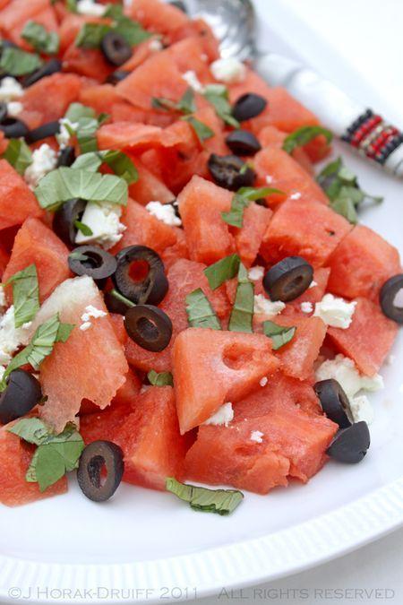 Watermelon, feta, olive & basil salad – and a BBQ event!