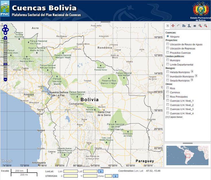 Sistema de Mapas de Cuencas de Bolivia