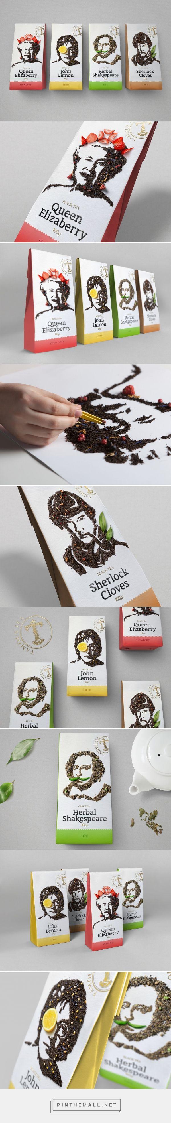 Celebri-Tea packaging design by Gordost - http://www.packagingoftheworld.com/2017/07/celebri-tea.html
