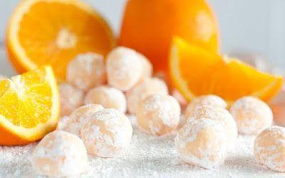 HELLASTHIVA: Τρουφάκια πορτοκάλι με αμύγδαλο