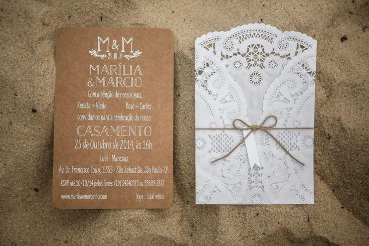 convite de casamento floral com renda lateral - Pesquisa Google
