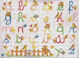 Risultati immagini per schemi punto croce alfabeto