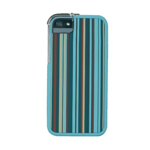 Retro colors stripes unique iPhone 5s case