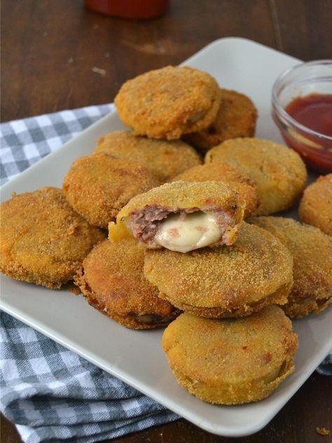 Aros de cebolla rellenos de carne picada y queso | IDEAS PARA COCINA ...