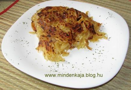 Hagymás reszelt krumpli - Blogger Kulinária