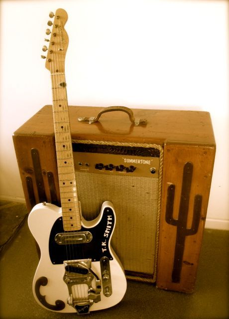 TK Smith Guitar and Custom made Amp
