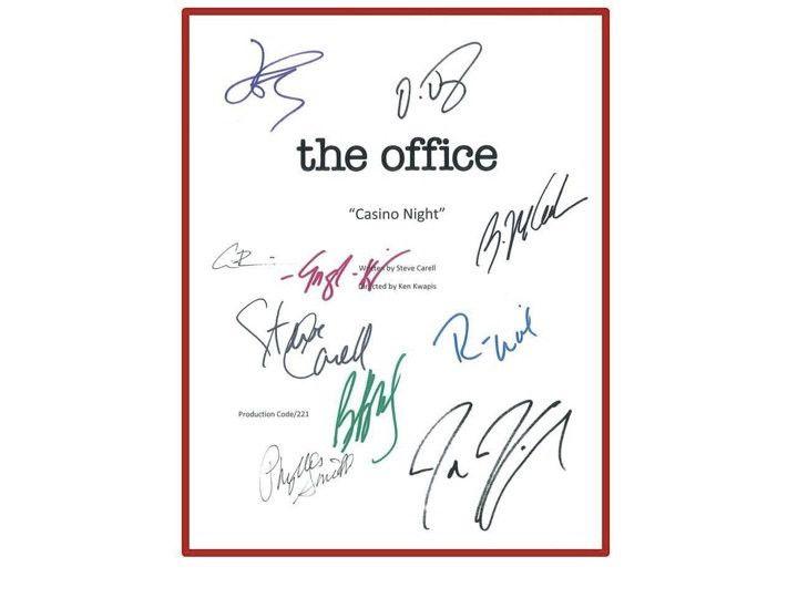 The Office Script Signed Steve Carell, John Krasinski +more