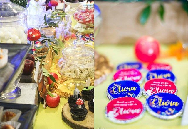 Olivia's Snow White and the Enchanted Forest Theme Party – Dessert spread