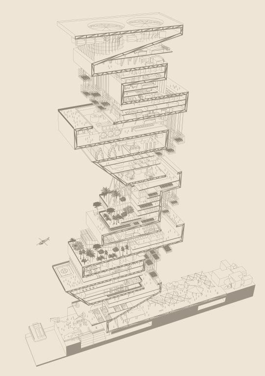 Drawing : Federico Picciolo Project : Pola - Permanent Office for Landscape and Architecture - www.polarch.eu