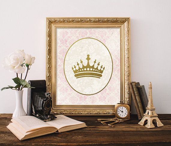 Crown Print 5x7 8x10 Instant Download by MossAndTwigPrints on Etsy