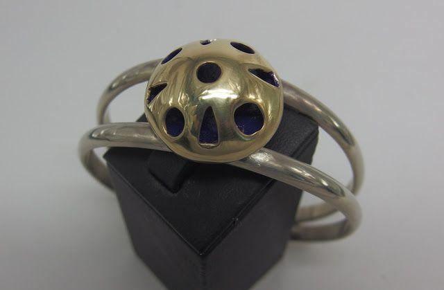 brass,alpaca handmade bracelet, handmade jewellery - Kiki
