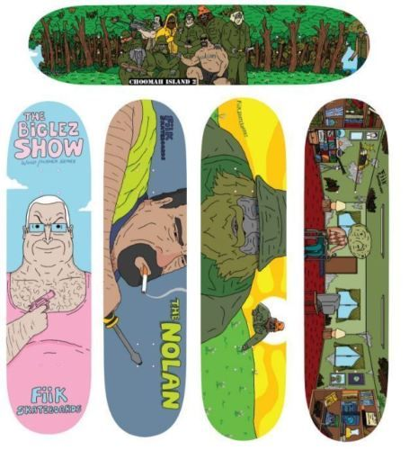 Other Skateboard Parts 159076: Fiik X The Big Lez Show 5 Pack Limited BUY IT NOW ONLY: $359.99