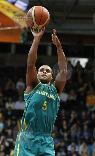 Sport.  Australian Boomers player Patty Mills during the match at the AIS Arena…