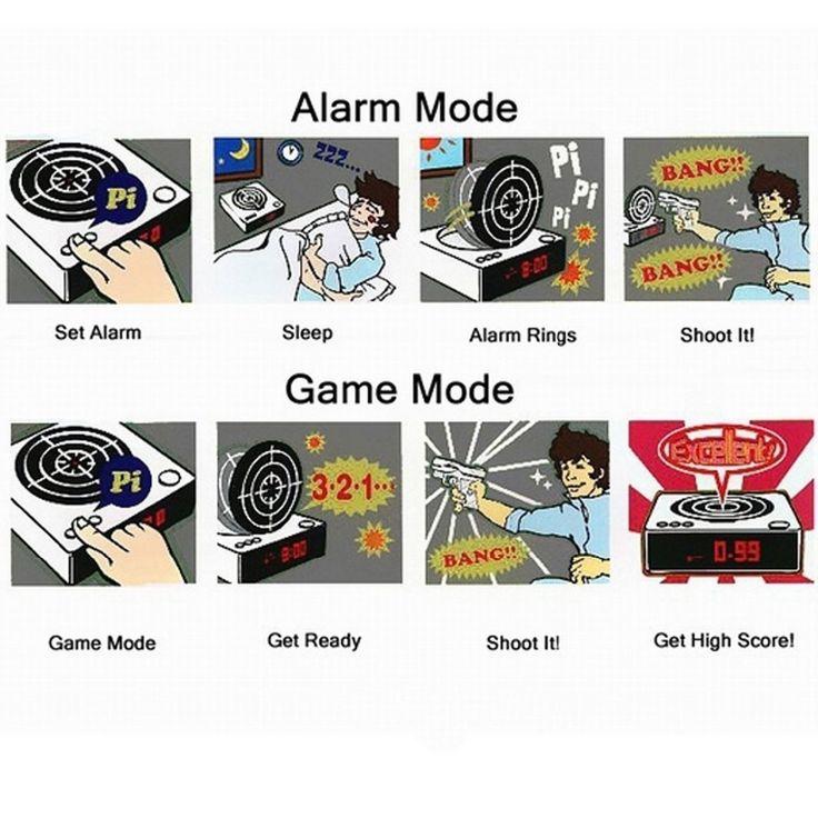 Target Shooting Gun Alarm Clock #Targetshooting #Alarmclock #Bigstartrading