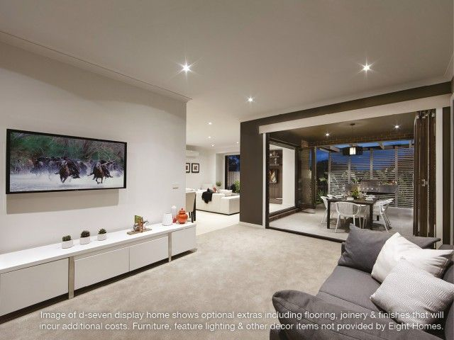 Living area ind seven   Eight Homes display home  Point Cook  affordable  builder Melbourne. 8 best Living Spaces images on Pinterest   Living spaces  Cook and