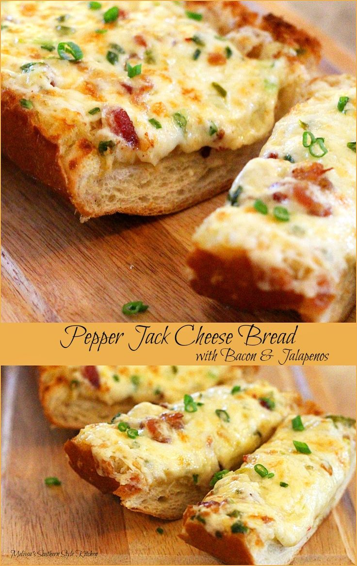 Pepper Jack Cheese Bread with Bacon And Jalapenos