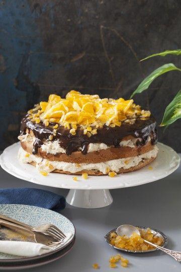 #tort pomarańczowo-kawowy #delektujemy #orange #chocolate #coffee #cake
