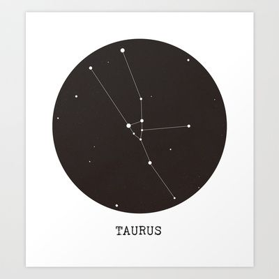 Taurus Star Constellation Art Print | Art, Stars and Star ...