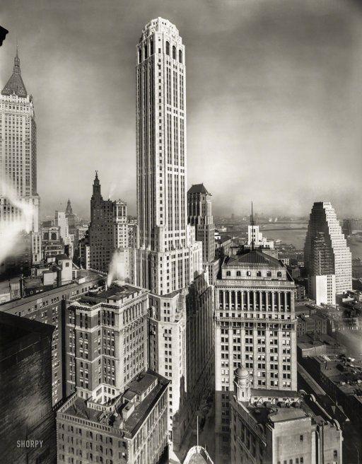 City Bank-Farmers Trust Building at William & Beavers streets. New York, 1931. http://j.mp/2bFCq8q #oldpics