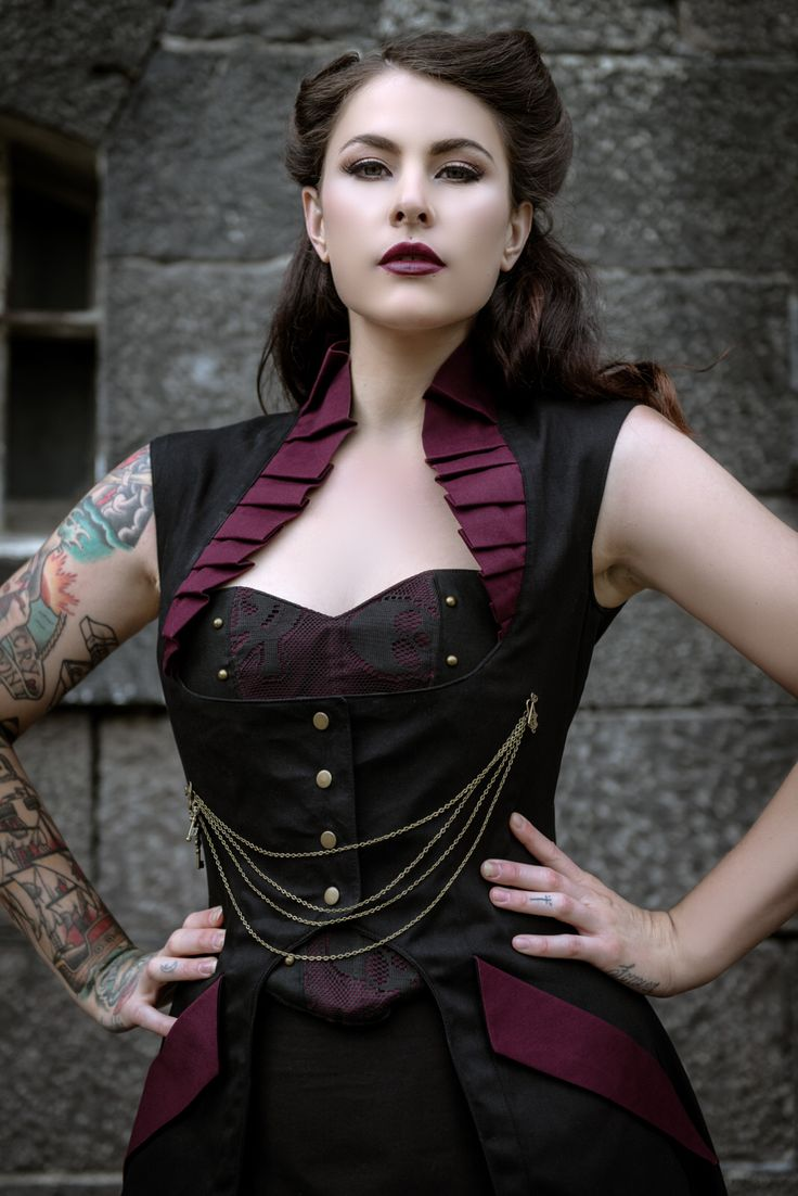 Handmade Steampunk Victorian Vest. Available on etsy, MADE TO ORDER in any size. Gothic Burning man Modern Steampunk Fashion. $266.76