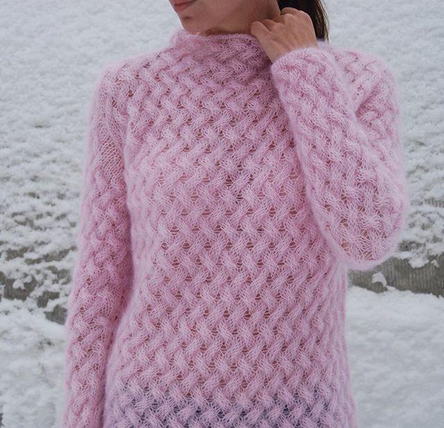 Мохер + шелк, супер нежный #lanagrey_knit #knitting #knitwear #вязание #вязаниеназаказ