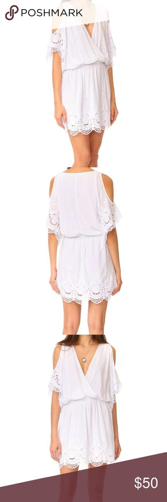 """🆕YFB Colette Surplice Lace V-Neck Wrap Crochet M NO OFFERS. PRICE IS FIRM AND NON-NEGOTIABLE. NO TRADES OR HOLDS. Brand new with tags Young, Fabulous, & Broke """"Colette Dress"""" in White, size M. Deep v-neck. Intricate eyelet embroidery at the sleeves and skirt. Surplice neckline and covered elastic waistband. Lined. Super buttery soft and stretchy. 70% Rayon/30% Cotton. Young Fabulous & Broke Dresses Mini"""