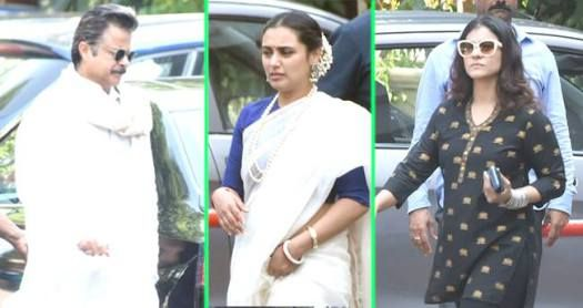 Celebs Mark Their Presence At The Pooja Hosted By Rani Mukerji For Her Late Father! See Pics