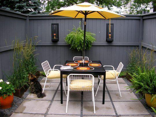 Outdoor living, tiny patios...
