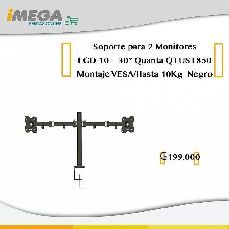 Soporte para 2 Monitores LCD 10  30 Quanta QTUST850 Montaje VESA/Hasta 10Kg  Negro Útil practico resistente versátil fácil de armar e instalar. El soporte para monitor QTUST-850ofrece total comodidad y seguridad para hasta 2 monitores de 10 a 30. Ofrece soluciones perfectas para adornar los cambios en cualquier ambiente. 199.000  #Soporte #Base #SoporteParaTV #SoporteQuanta #Quanta #BaseParaTV #TV #Monitor #LCD #LED #Pantalla #Tecnología #Innovación #Estilo #Practicidad #Articulo #Imegapy…