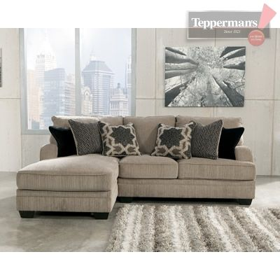 Hereu0027s the Katisha sectional in a smaller 2pc configuration from //  sc 1 st  Pinterest : teppermans sectionals - Sectionals, Sofas & Couches