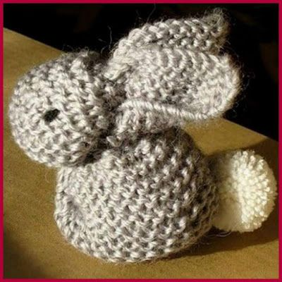 Dollar Store Crafter: Knit Or Crochet This Adorable Little Bunny (Free P...
