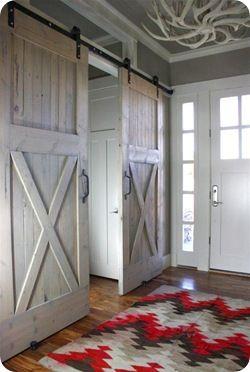 barn door love: Barndoor, Ideas, The Doors, Houses, Sliding Barns Doors, Dreams, Sliding Barn Doors, Interiors Barns Doors, Sliding Doors