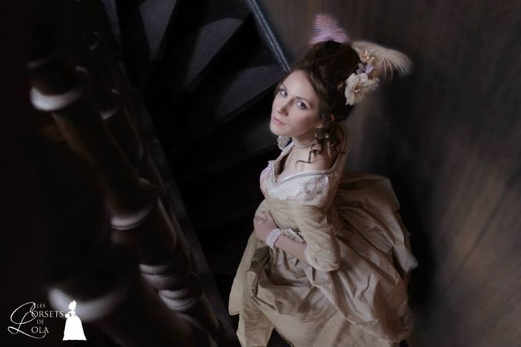 Robe à l'anglaise XVIIIè siècle, soie Les Corsets De Lola, 2014 Photo : Laura Monpeurt