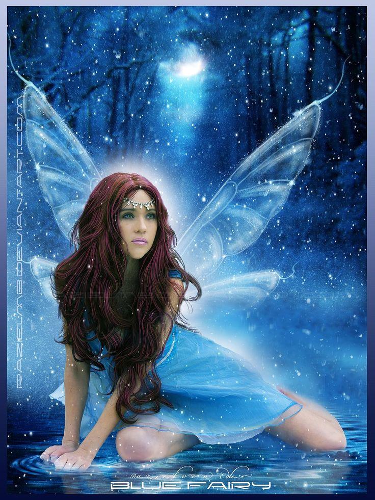 fairy pictures | blue fairy by razielmb digital art ...