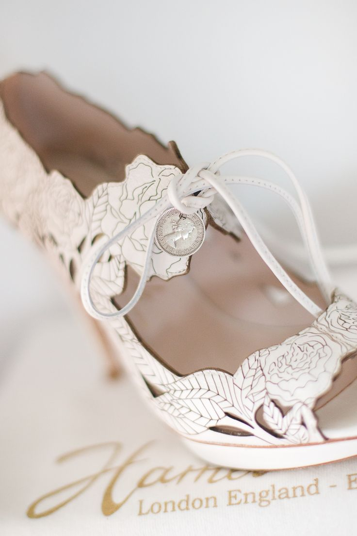 Harriet Wilde Shoes Bride Bridal Sixpence Hand Made Rustic White Wedding