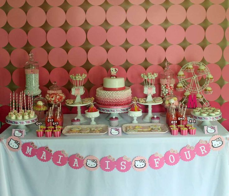 The 25 best Hello kitty birthday theme ideas on Pinterest Hello