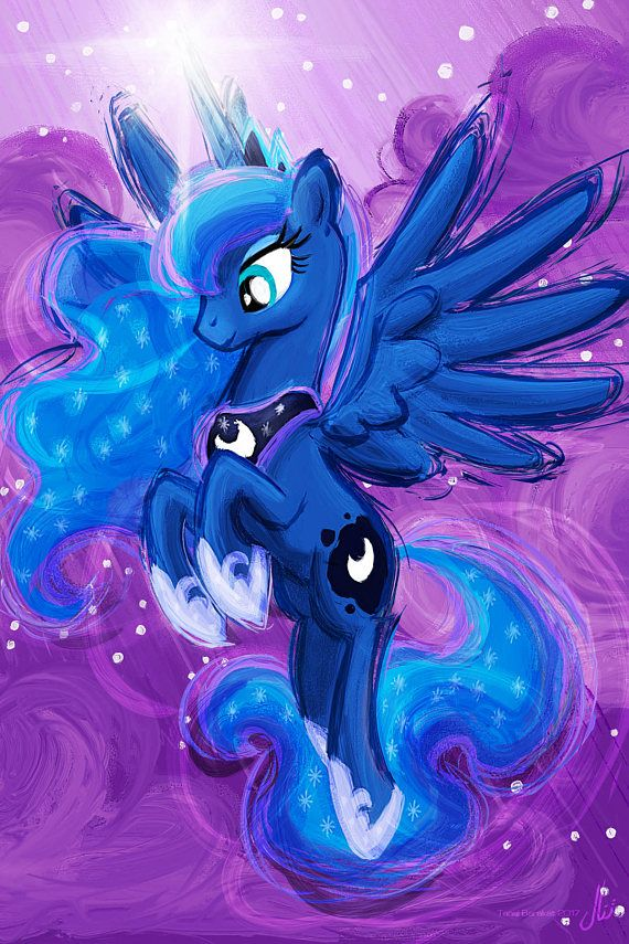 Princesa Luna  My Little Pony amistad es magia Art Print