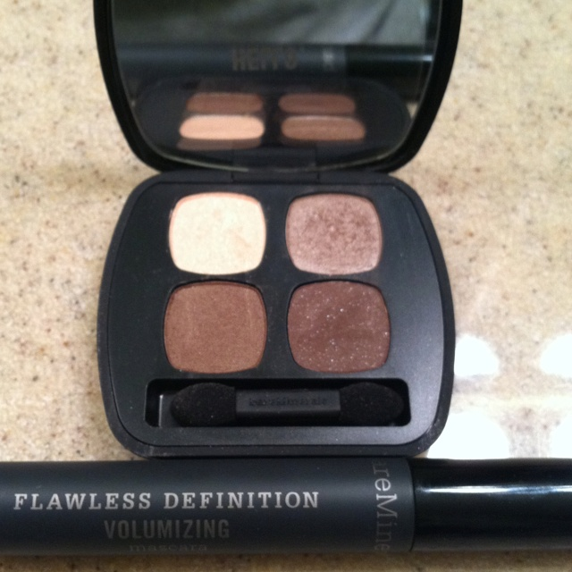 My new favs. Bare Minerals Eyeshadow Quad in TRUTH & Volumizing Mascara