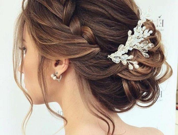 Coiffure Mariage Cheveux Mi Long Lachés Visage Ovale