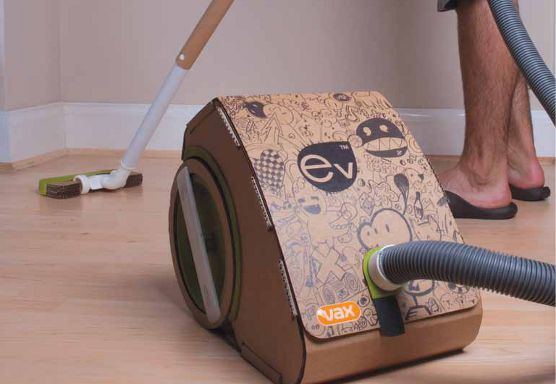 Cardboard Vacuum Cleaner?? How cool... Wonder if it really works?