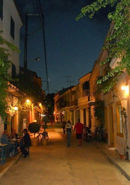 Gaios Alley at Night, Paxos Island, Greece