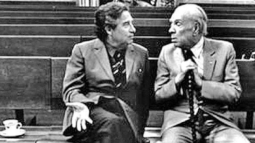 CAMBIANDO IDEAS CON JORGE LUIS BORGES. 1981, España.