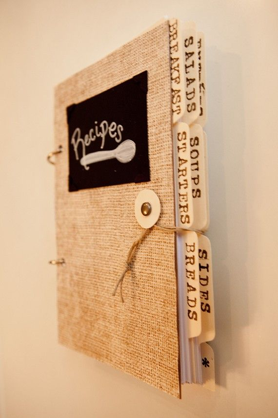 Handmade Recipe Book by lettinglove on Etsy