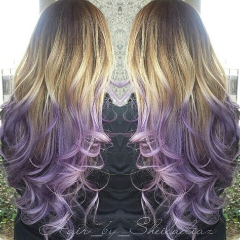 Beautiful blonde to lavender hair color bySheila Diaz Hairstylist @hair_by_sheiladiaz. Using Pravana Vivids hair dyein Violet. More Hair Styles Like This!