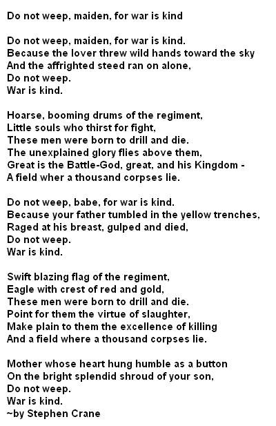 How to write a war poems poetry