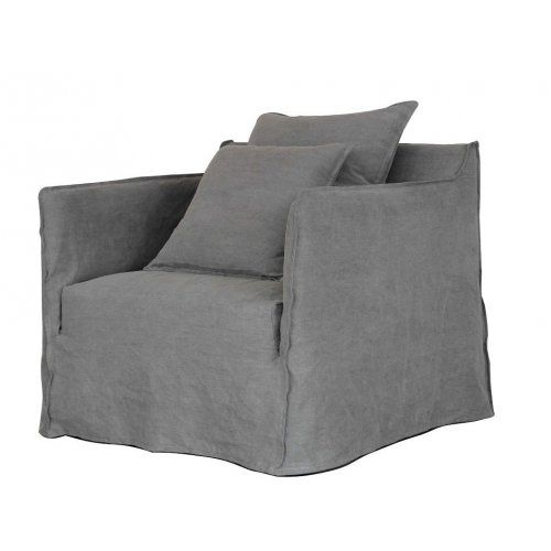 Linen Slip cover chair - Charcoal
