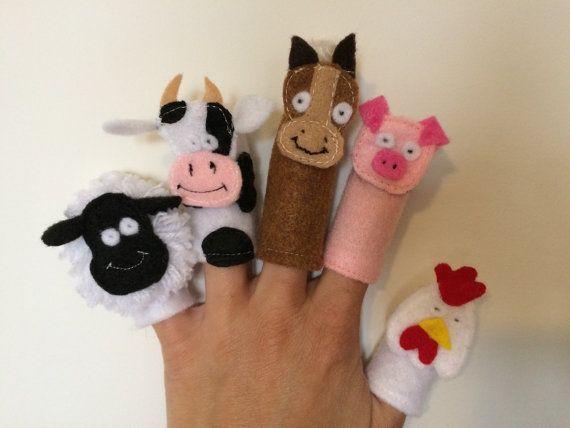 Farm Animal Finger Puppets by myraecreations on Etsy