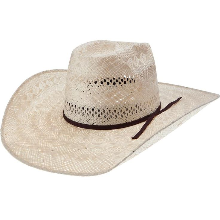Rami Open Crown Rodeo King Straw Hat