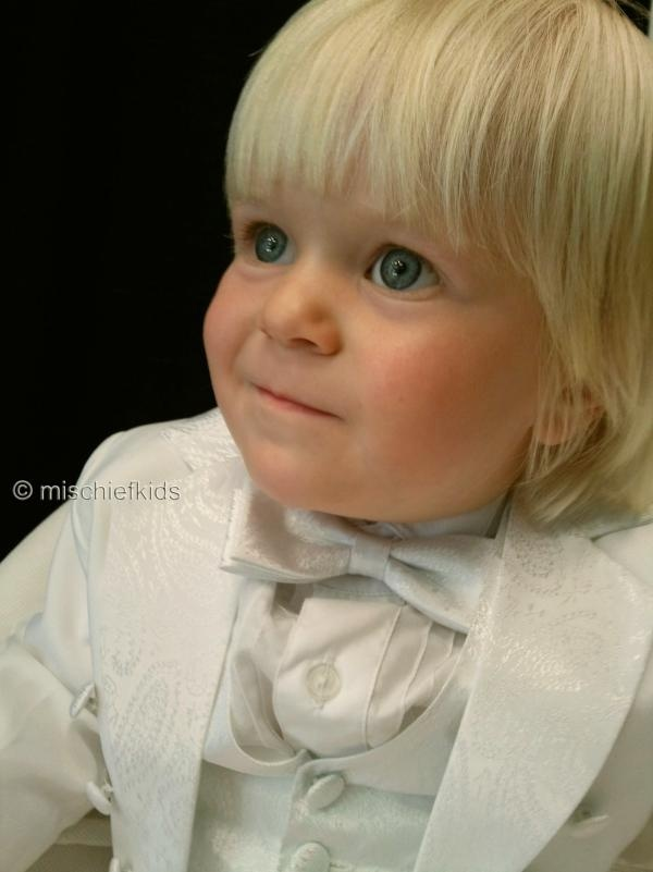 BERTIE Boys White Tuxedo Tails Suit 3 MTHS TO 4 YEARS....click to enlarge